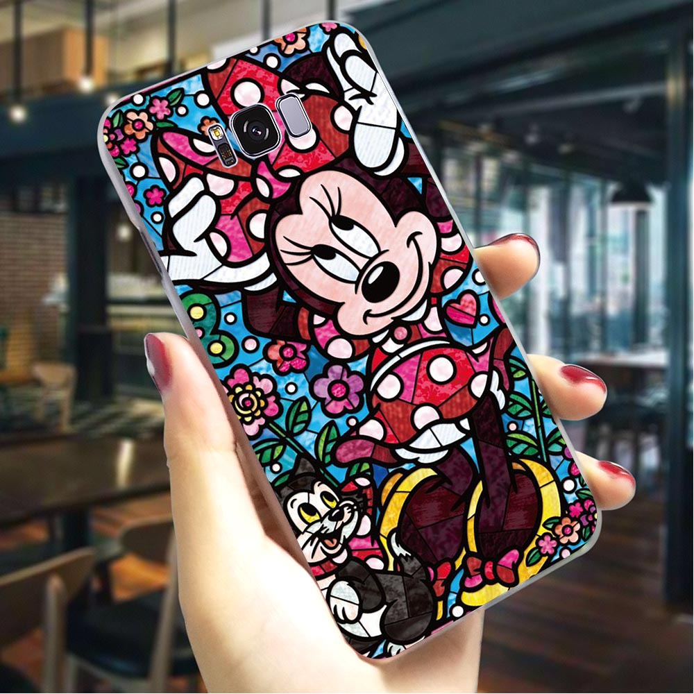 Fairy Tales Alice Stitch Hard Case for Samsung Galaxy A50 A70 A3 2015 A5 2016 A6 2017 A7 2018 A8 Plus A9 A10 A20 A30 A40