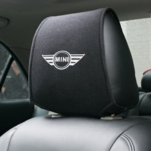 1PCS Hot car headrest cover fit for Mini Cooper Countryman clubman F54 F56 F55 F60 R60 R61