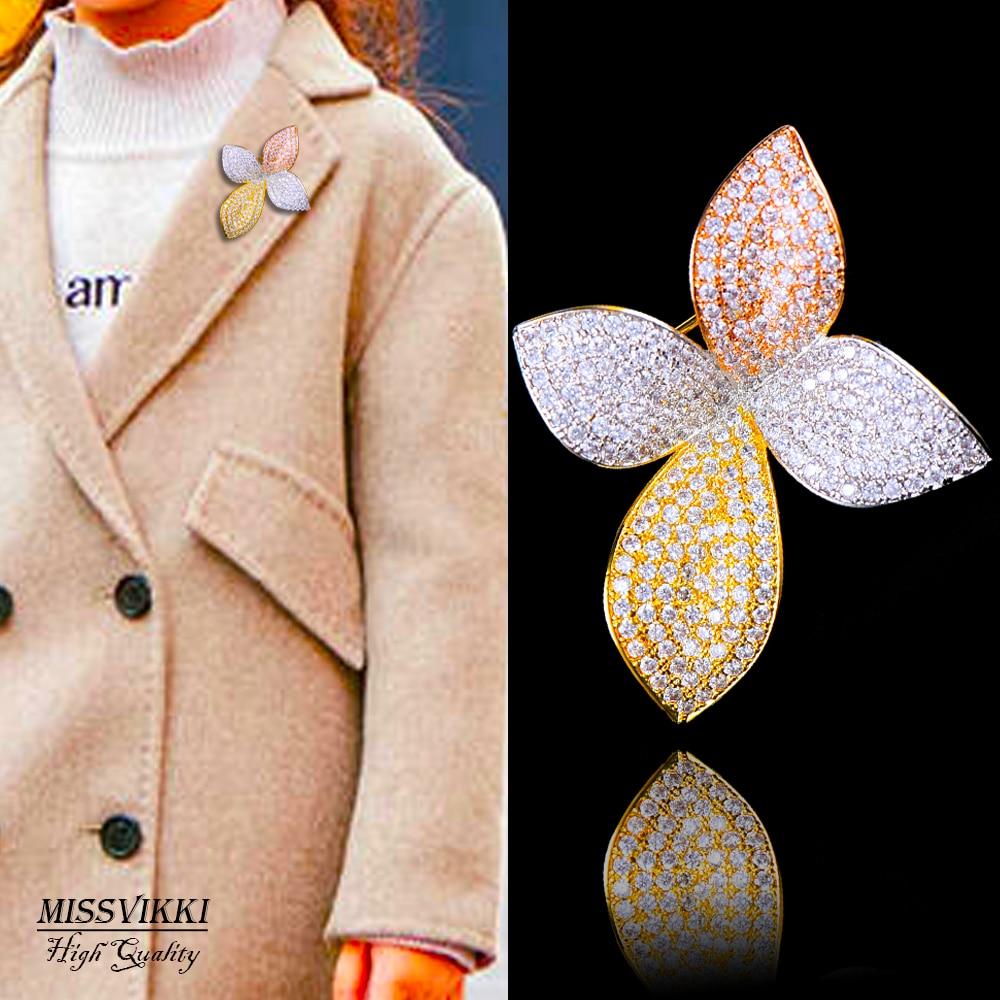 Missvikki, broche de flores de alta calidad, colgante de joyería para el cuello, regalo del Día de San Valentín para mujer, accesorios para novia, joyería para la ropa