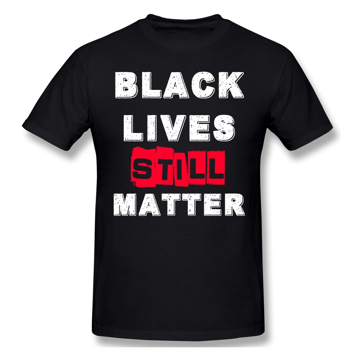 Футболка для мужчин черная жизнь все еще материя 100% хлопок тройники Crewneck Джордж поплавал черный расовая дискреция в Миннесоте