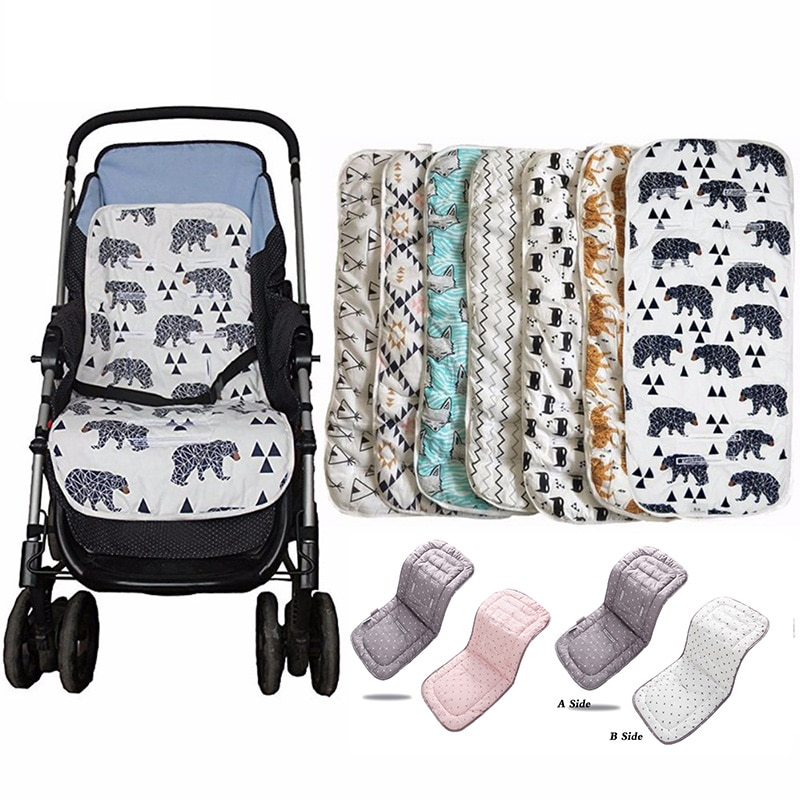Fashion Baby Stroller Seat Cotton Comfortable Soft Child Cart Mat Infant Cushion Buggy Pad For Baby