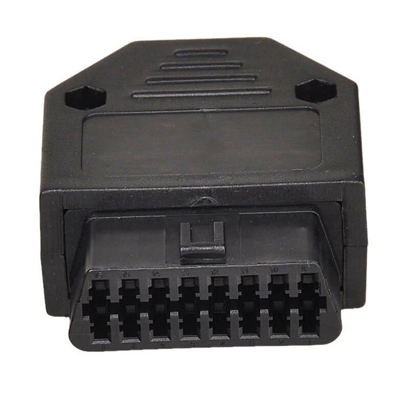 OBD2 OBD II 16 conector con pines adaptador de herramienta de diagnóstico conector OBD + carcasas + Terminal + tornillos