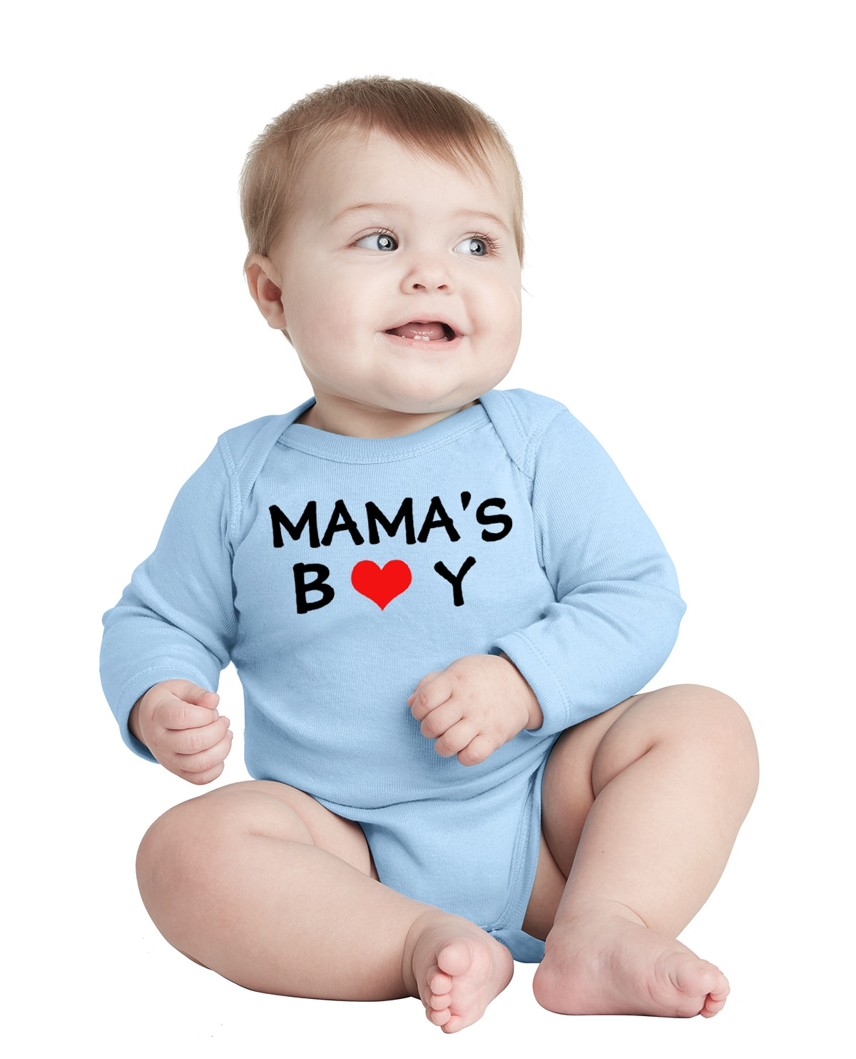 Infant Baby Boys Funny Romper Mama's Boy Print Clothing Toddler Long Sleeve Fashion Jumpsuit Infant