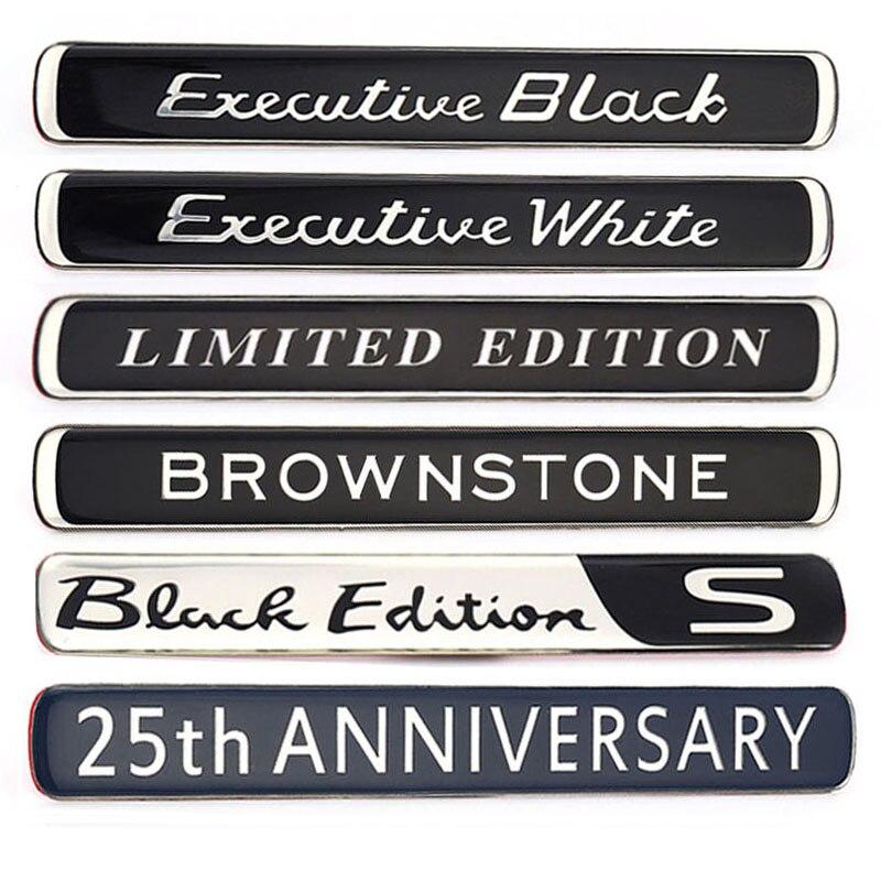Наклейки для автомобиля Авто эмблемы наклейки на Brownstone Исполнительный Белый Черный Ограниченная серия для BMW Audi Ford Nissan Jeep Toyota Skoda OCTAVIA III