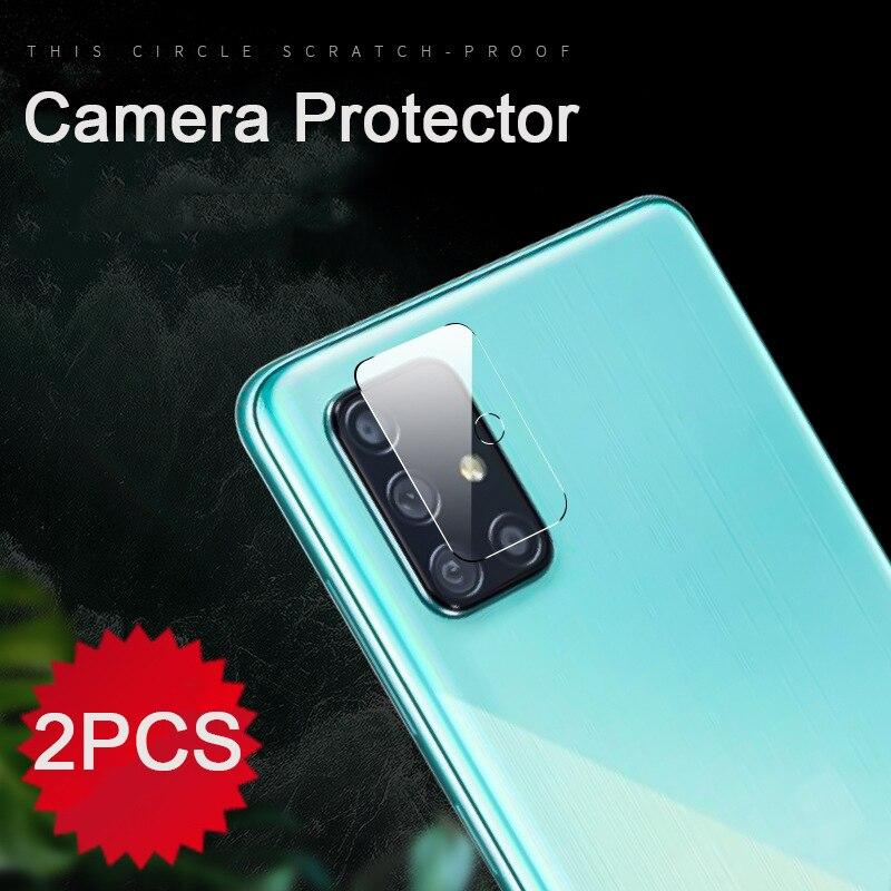 2 uds lente de la Cámara de vidrio templado protector para Samsung Galaxy A51 A50 A50S A70s A70 A71 A7 2018 50 50s 51 70 71 película protectora