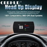 obd2gps dual system car smart digital meter t812 universal suitablefor all models hud speedometer smart guage tft viem auto