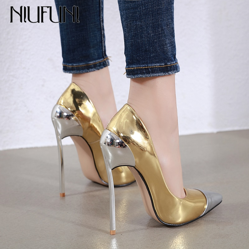 fragrantlily new women plus size big bow tie pumps butterfly pointed stiletto pointed toe woman wedding high heels shoes bowknot NIUFUNI Plus Size Women Pumps Fashion High Heels Pointed Toe Glitter Shoes Woman Metal Heel Stilettos Party Dress Pumps