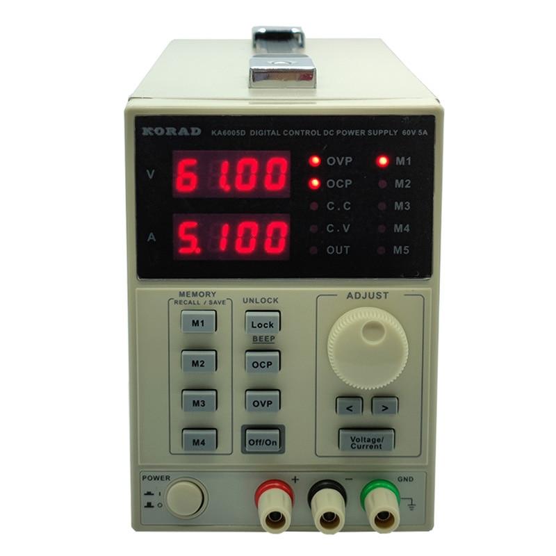 KORAD KA6005D-الدقة متغير قابل للتعديل 60 فولت ، 5A تيار مستمر خطي امدادات الطاقة الرقمية ينظم مختبر الصف