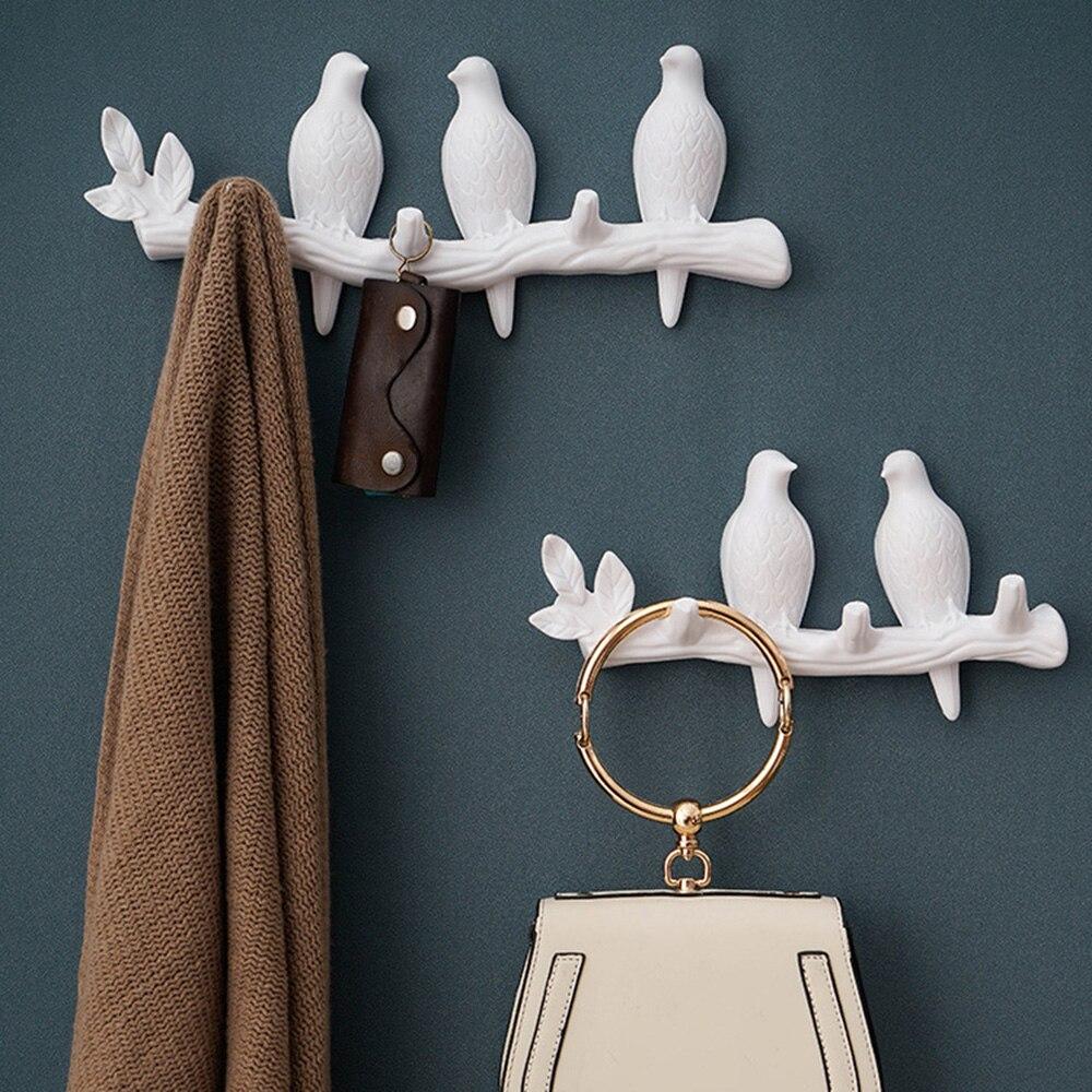 Dekoracyjny ścienny wieszak na kurtki ptaki na drzewie oddział wieszak na płaszcze kapelusze klucze ręczniki Organizer na ubrania Decor wieszaki