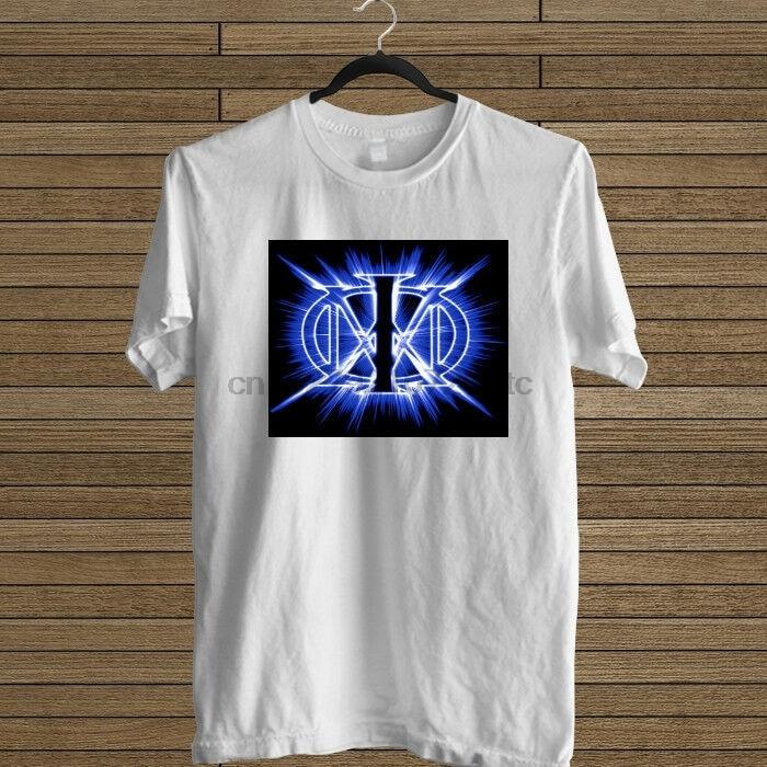 Camiseta branca do logotipo do sonho da banda do rock do teatro