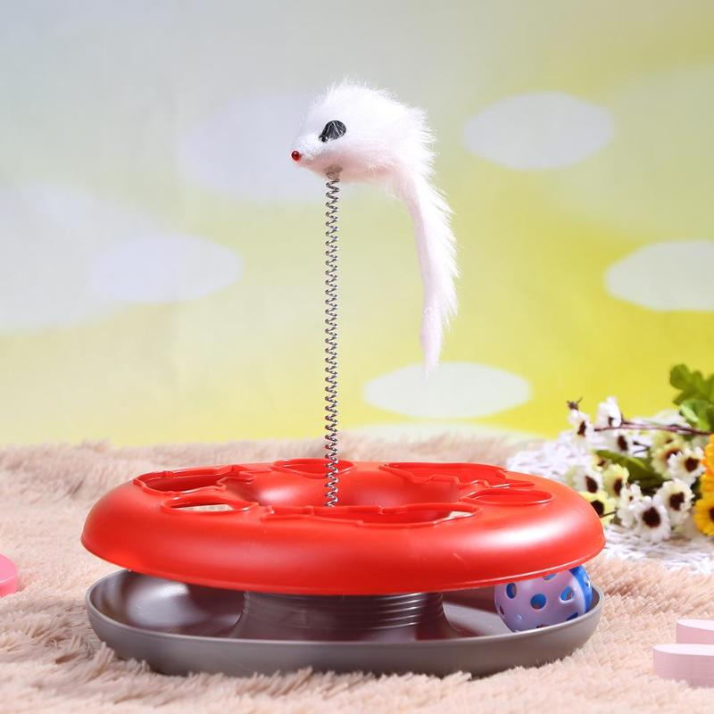 Cat Toys Spring Mice Crazy Amusement Disk Play Activity Pet Funny Toys Kitten Interactive Teaser Pet Products Toys for Cats