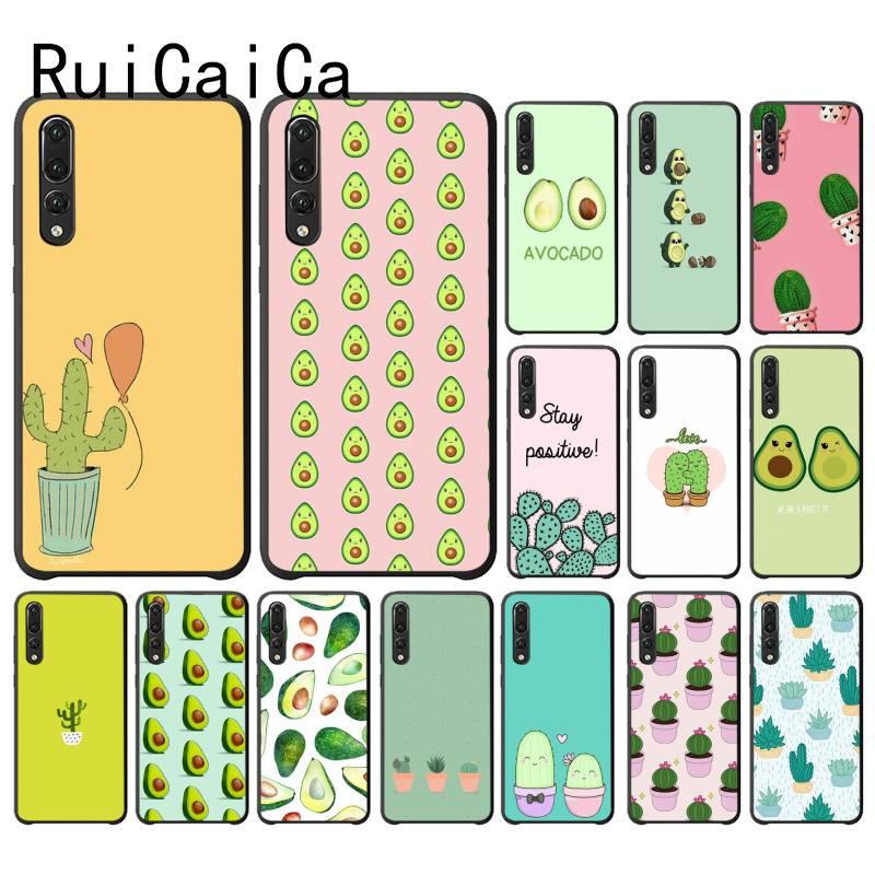 RuiCaiCa, Linda fonecasa de Cactus con aguacate para Huawei P30 PRO LITE P SMART P20LITE 2018 NOVA 2 2I 2PLUS 2S P smart plus