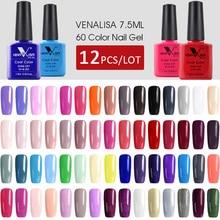 12pcs*7.5ml VENALISA Gel Varnish Fast Shipment Original Nail Art Manicure 60 Colours Soak Off Gel Lacquer LED UV Gel Nail Polish