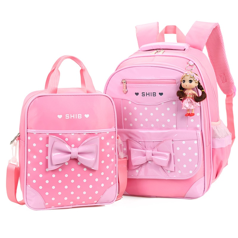 Школьный портфель с принтом для девочек, комплект из Большого Рюкзака и сумки для учеников начальной школы, Молодежные Удобные сумки для ко...