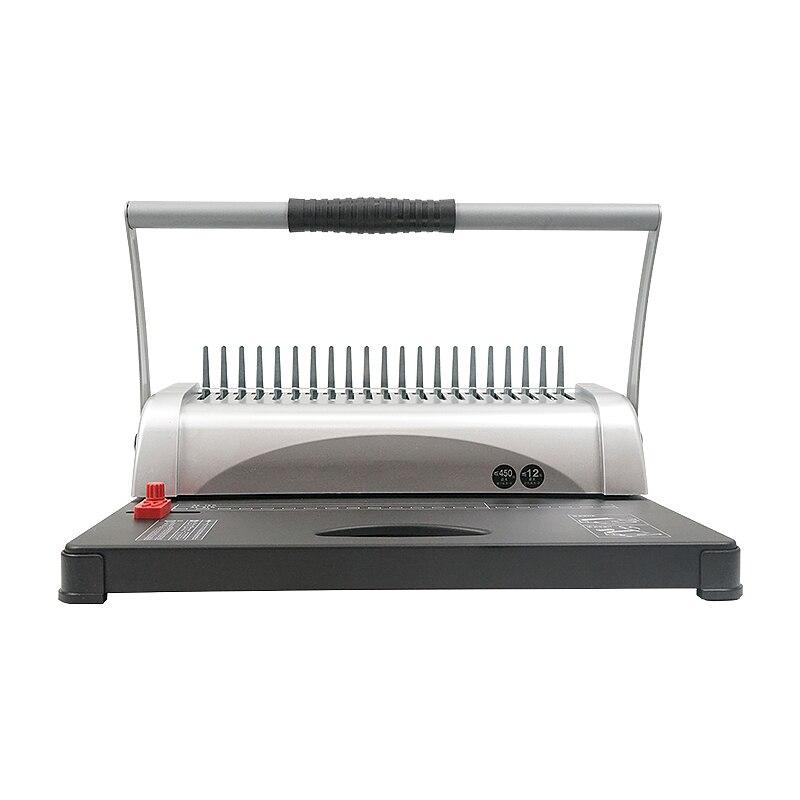 Máquina de Ligação do Avental Máquina de Perfuração Máquina de Ligação Furos Labor-saving Dupla Alças Clip-pente a4 21 a5