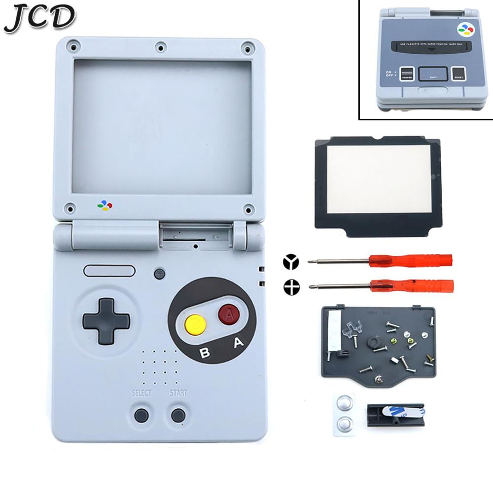 JCD For GameBoy Advance SP Classic NES Limited Edition Replacement Housing Shell Screen Lens For GBA SP Housing Case Cover