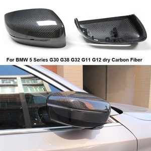 Dry Carbon Fiber Rear View Mirror Cover For BMW 5 Series G30 G38 G32 G1 G2 207 208 209  :  Replacement style Car styling