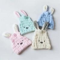cartoon cute ear rabbit dry hair shower bath towel strong absorbing quick dry hair drying hat head wrap accessory 3025cm 1pc