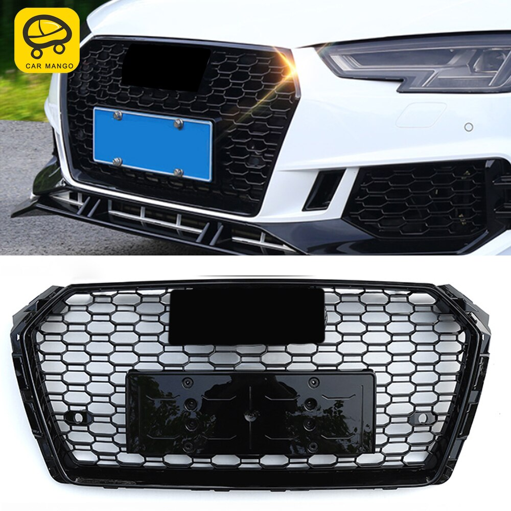 CarManGo For Audi A4 S4 A5 S5 B9 2017-2020 Front Grille Grills Net Assembly Frame Decorations Auto Replacement Exterior Parts