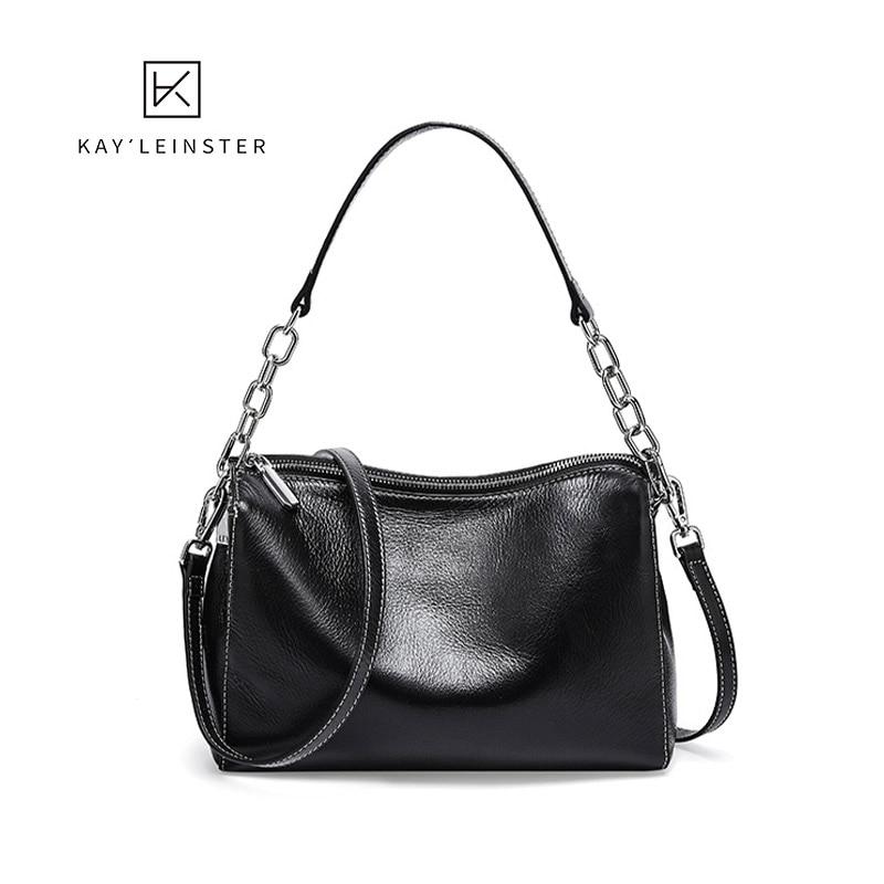 100% hakiki deri kadın omuz çantaları tasarımcı zincir moda çanta lüks küçük Flap çapraz vücut kadın çantası siyah basit çanta