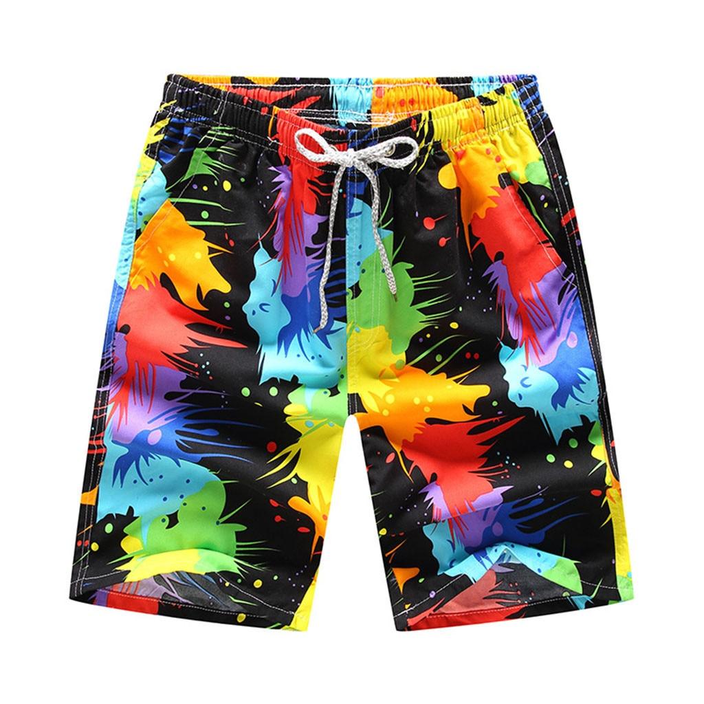 Men Boardshorts Summer Swimwear Mens Swimming Trunks Quick Dry Beach Shorts Colorful 3D Print Men's Swimsuits Bathing Suit