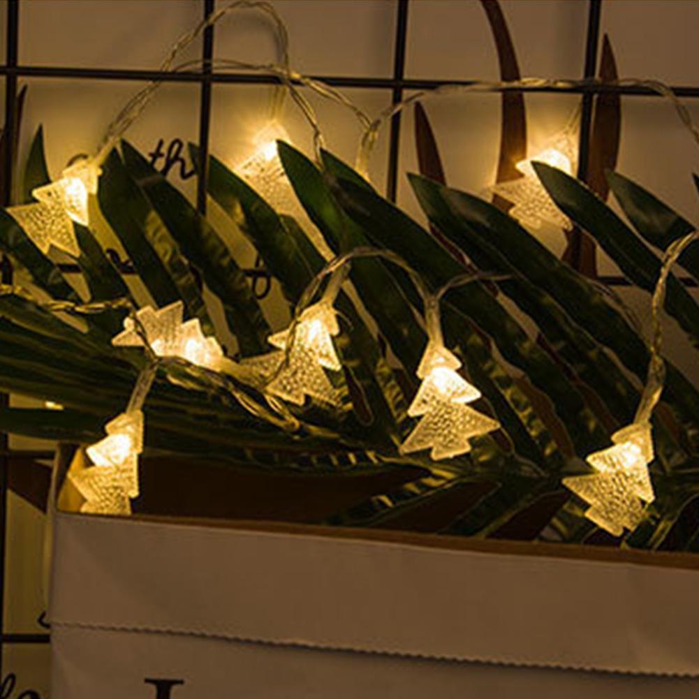 1.5m Christmas Tree String Light Battery Powered LED Certain Light Window Hanging Decor Christmas Outdoor Fairy Lights