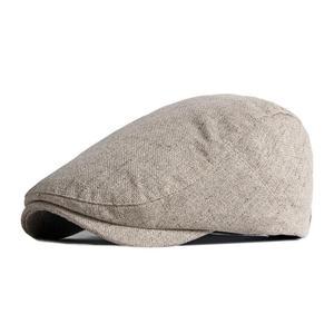 2021 Cotton four seasons solid color Newsboy Caps Flat Peaked Cap Men and Women Painter Beret Hats 120