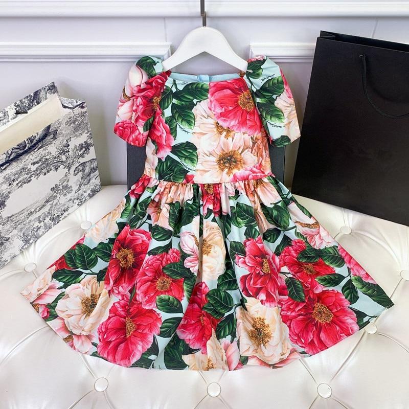 فستان شبكي للبنات ذو علامة تجارية راقية جديد 2021 فستان حفلة وردي للأميرة