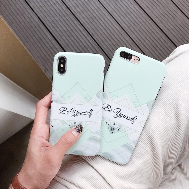 Xbxcase hortelã verde voltar macio imd caso de telefone para iphone 11 pro max 8 6 s 7 plus se 2 losango arte mármore caso para iphone x xs xr