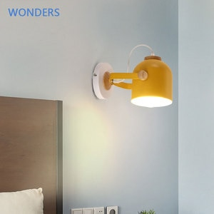 Nordic LED wall lamp indoor lighting for home decor living room bedroom bedside loft children's room modern macarons wall light