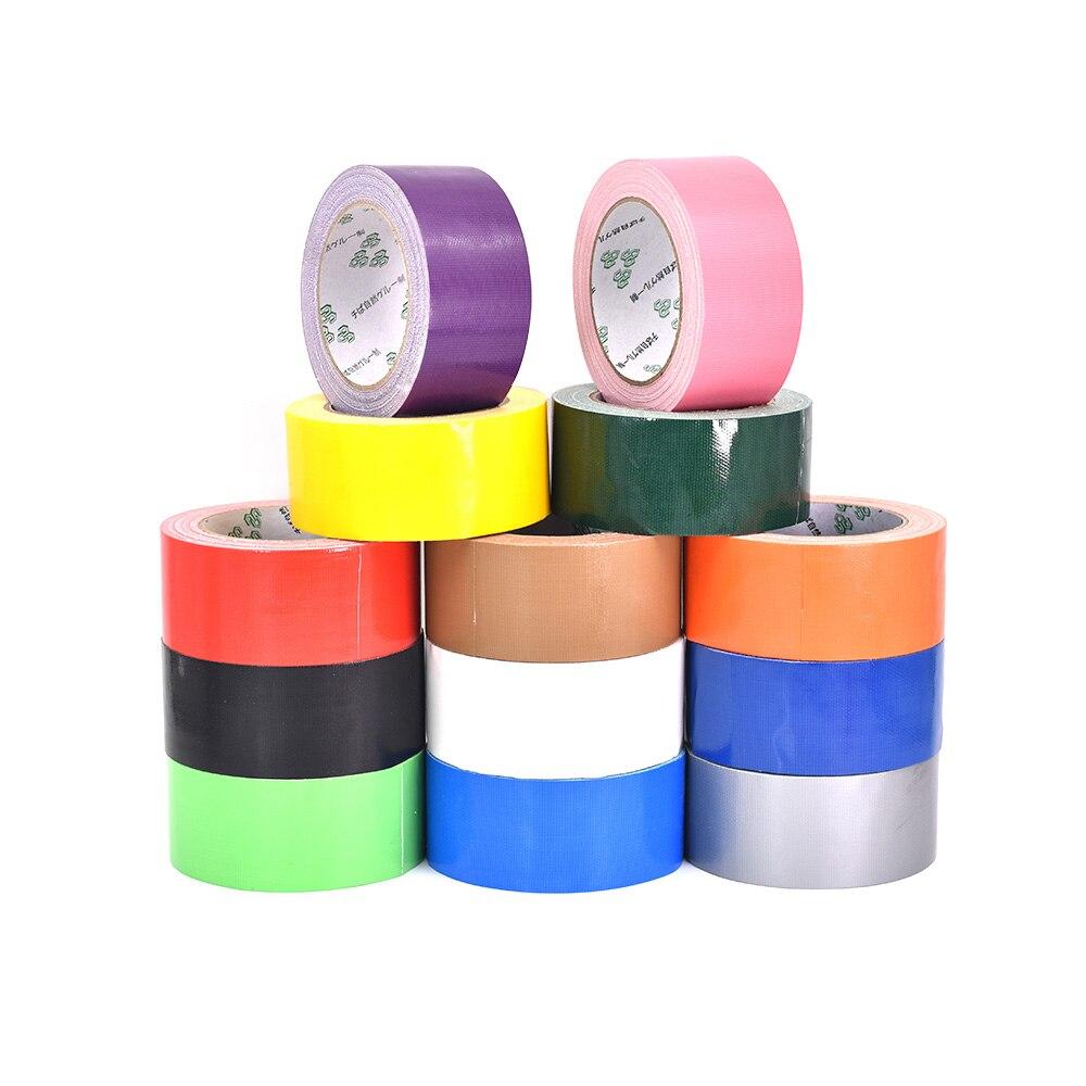 1 rolo 50mm x 10 m único-face tapete fita adesiva de pano de alta resistência tapete fita impermeável pvc fita adesiva elástica
