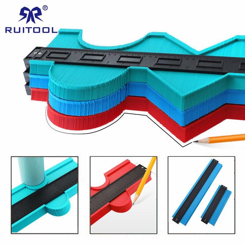 "10""/20"" Contour Gauge ABS Profile Ruler Widen Contour Duplicator Gauge for Tiling Laminate Tiles Edge Shaping"