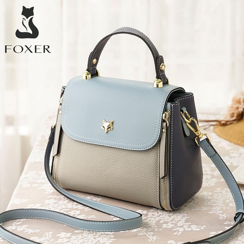 FOXER Women's Shoulder Bags Crossbody Handbags Fashion Cross Body Purse Large Capacity Chic Totes Ladies Medium Messenger Bag