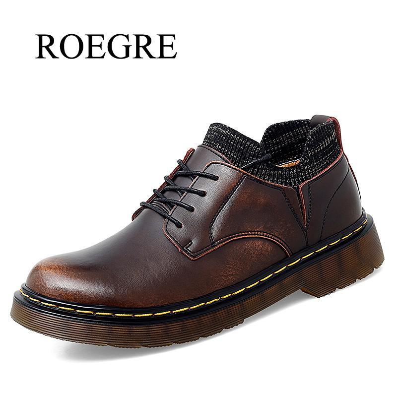 أحذية أكسفورد للرجال ، أحذية مسطحة ، جلد طبيعي ، كاجوال ، للعمل ، مقاس كبير 38-46