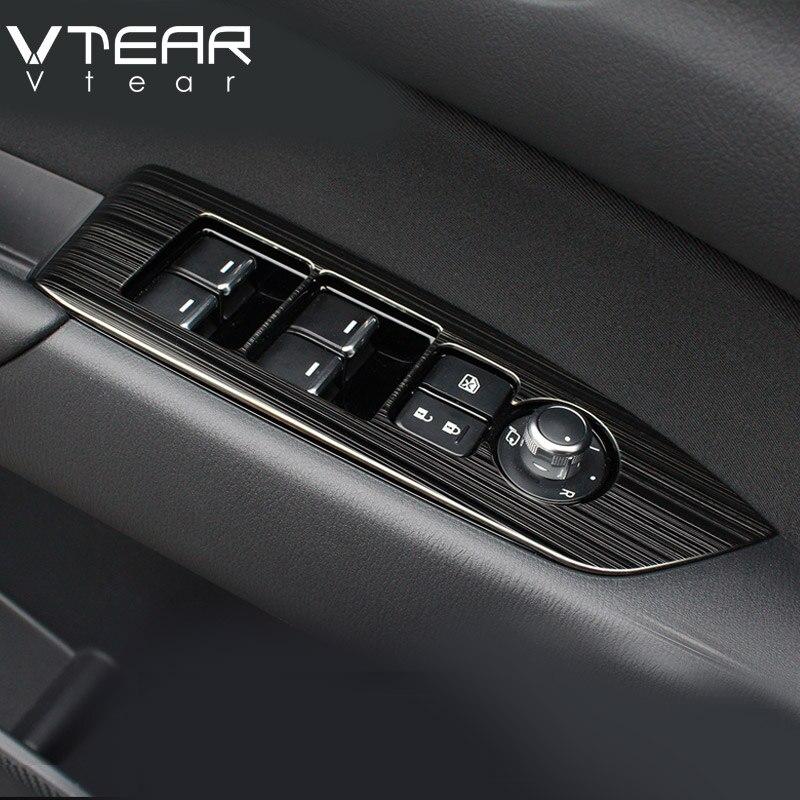 Vtear для Mazda мазда сх5 CX-5 2017 2018 2019 Внутренний дверной подлокотник, переключатель окна автомобиля, Регулировка панели лифта, накладка, аксессуары для интерьера,автотовары