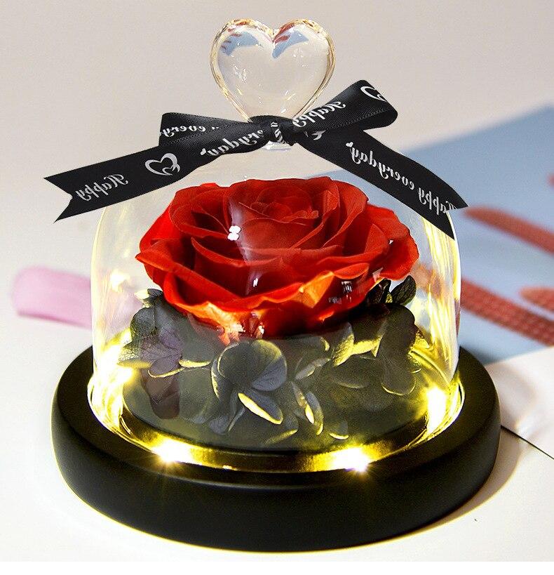 قبة زجاجية محفوظة الجمال والوحش ، لعيد الحب ، كهدية زفاف للضيوف ، لعيد الأم ، لعيد الحب