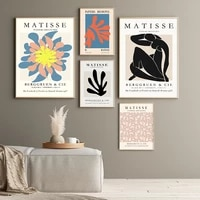 henri matisse nude art posters and prints abstract flower cut out wall art canvas painting pictures for living room home decor