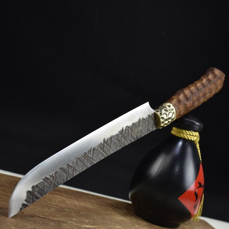 أحدث سكاكين فايكنغ صناعة يدوية مقاس 9 بوصات 7Cr17MoV مصنوعة من الفولاذ الكربوني العالي المقاومة للالتصاق بأوردة مزورة سكاكين مطبخ ساشيمي