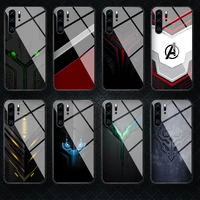 cool luxury tempered glass phone case cover for huawei honor mate p 7 8 9 10 20 30 40 a x i pro lite smart 2019 fashion shell