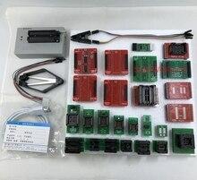 Black Edition V10.13 Xgecu TL866II Plus Usb Programmeur 15000 + Ic Spi Flash Nand Eeprom Mcu Pic Avr + 25 pcs Adapter + SOIC8 Testclip