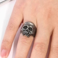 new exaggerated skull ring rock gothic punk skeleton ring for men jewlery for women fashion trendy luxury jewelry wholesale bulk
