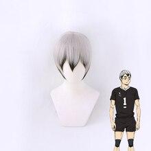 Haikyuu!! Inarizaki Kita Shinsuke perruque courte Cosplay Costume résistant à la chaleur cheveux synthétiques Haikiyu hommes femmes perruques