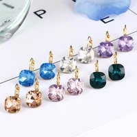 simple fashion earrings earrings ladies earrings multicolor crystal ball earrings earrings western bright personality earrings