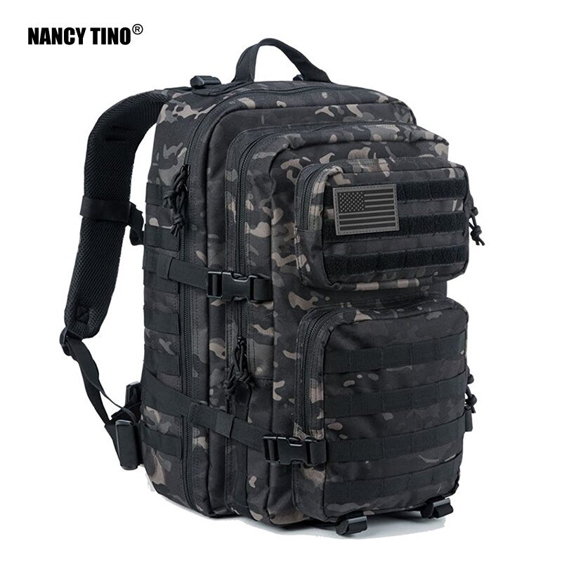 NANCY TINO Military Tactical Backpack Assault Pack Army Molle Bag Backpacks Rucksack Camping Hunting Training Camouflage