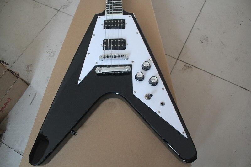 Guitarra eléctrica con horquilla negra grande 6 formas de forma irregular guitarra...