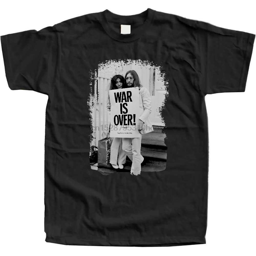 Camiseta John Lennon Yoko de War Is Over, algodón negro, talla S a 2Xl, Feliz Navidad
