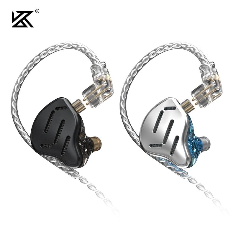 KZ ZAX 7BA + 1DD سماعات 16 وحدة HIFI في الأذن رصد التكنولوجيا الهجين سماعات إلغاء الضوضاء سماعات سماعة الموسيقى