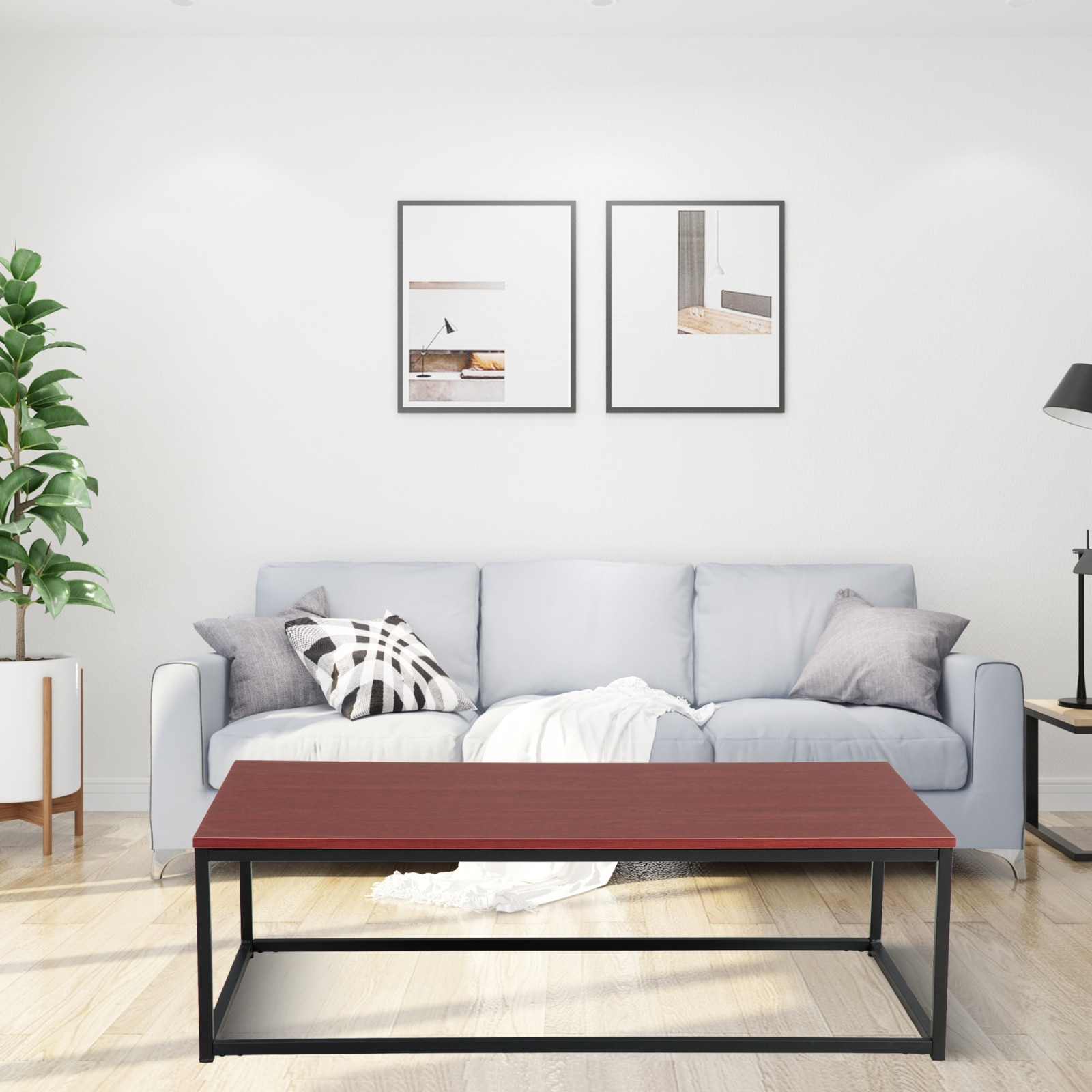 COFFEE TABLE(RED BROWN)(rectangular) +for Kitchen, Restaurant, Bedroom, Living Room And Many Other Occasions