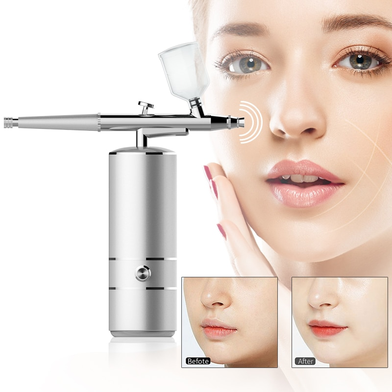 Oxygen Injector Airbrush Humidifi Hydrating Instrument Portable Skin Beauty Care Tool Domestic Nano Fog Mist Sprayer