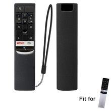 SIKAI-housse de télécommande en Silicone   Couverture de télécommande, prise en charge anti-poussière, pour TCL RC602S